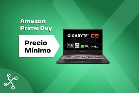 El portátil gaming Gigabyte G5 con pantalla de 144 Hz y potencia bruta por la gráfica RTX 3060 roza los 900 euros en el Prime Day