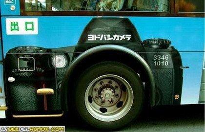 Publicidad en autobuses creativa