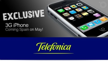 """Sevenclick: """"Confirmado - Telefónica distribuirá un nuevo iPhone con 3G en España, en Mayo"""""""