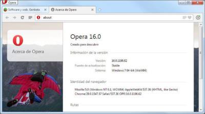 Lanzado Opera 16 estable. Un pequeño paso adelante en la dirección correcta