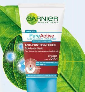 Gel y tónico anti-puntos negros Pure Active de Garnier