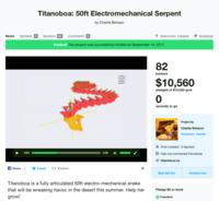 Titanoboa, una serpiente robot de 15 metros