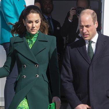 Kate Middleton apuesta por un sofisticado look en color verde en su primer viaje oficial a Irlanda
