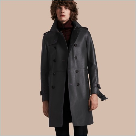 Burberry Lambskin Trench Coat