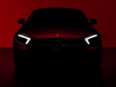 El nuevo Mercedes-Benz CLS se prepara para Los Ángeles y estos teasers le abren paso