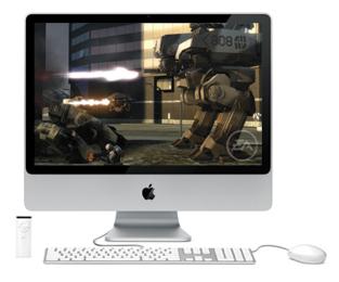 El iMac ejecutando un juego