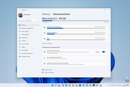 Cómo optimizar el almacenamiento en el disco duro en Windows 11 eliminando archivos que no usas y sin herramientas de terceros