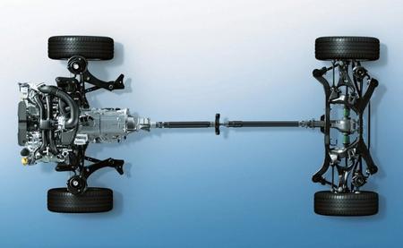 Sistema de tracción integral del Subaru Leone