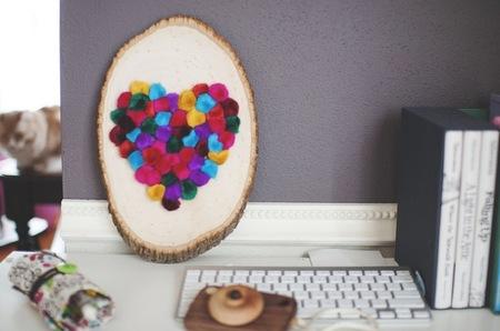 Hazlo tú mismo: corazones de pompones para San Valentín