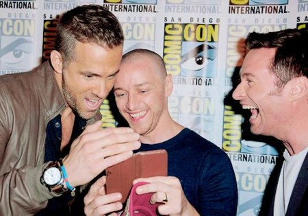 Ryan Reynolds, James McAvoy y Hugh Jackman en la Comic-Con