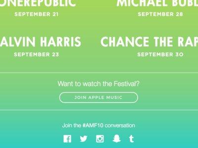 Apple Music te ofrecerá los conciertos de su festival… si eres suscriptor