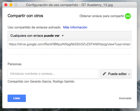 Google Drive Compartir