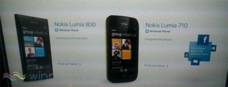 Nokia Lumia 800 y Lumia 710 se dejan ver antes de tiempo