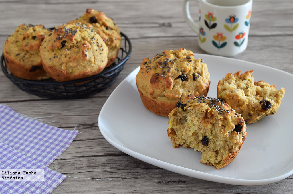 Muffins fitness de plátano y avena: receta saludable sin azúcar