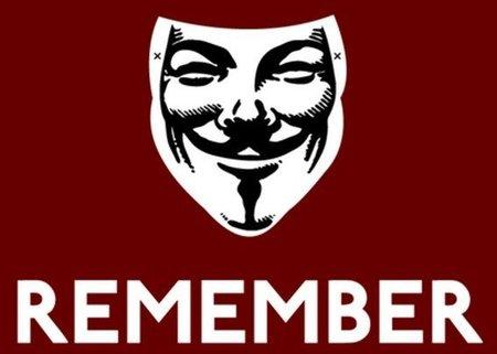 Anonymous pide recordar el 5 de Noviembre