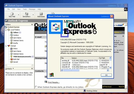 Outlook Express Windows 10