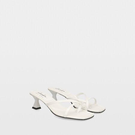 Sandalais Tacon Bajo Blancas