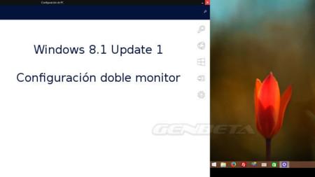 Windows 8.1 Update 1 en configuración de doble monitor