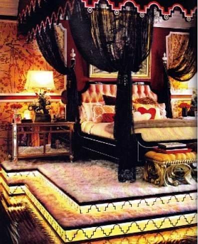 Dormitorio de Christina Aguilera.