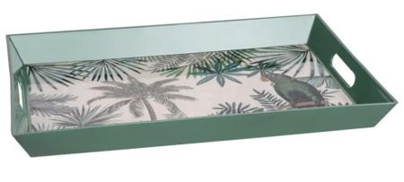 Bandeja Verde Con Motivo Impreso Tropical