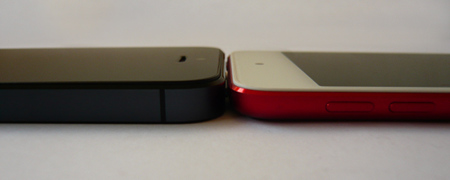 iPod touch 2012 vs iPhone 5 laterales