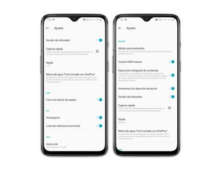 Oneplus 7 Ajustes App Camara