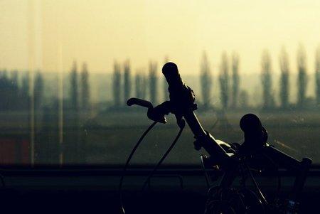 Bicicleta en tren