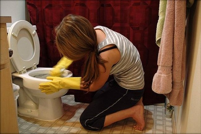 limpiar baño