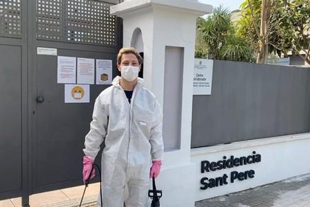 Dominique Aegerter y la lucha activa contra el COVID-19: desinfecta cada día una residencia de ancianos en Terrasa