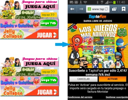 Banners Tap To Fun Y Carta De Pago