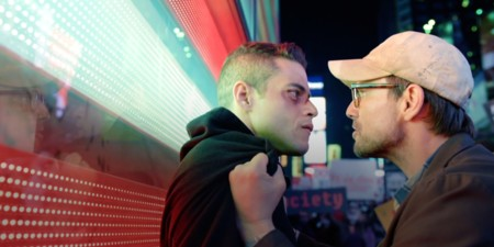 Rami Malek y Christian Slater en Mr. Robot