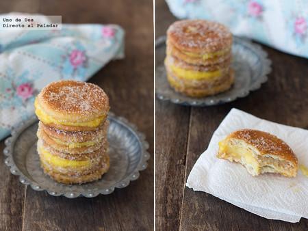 Cómo hacer galletas fritas con crema, la receta de toda la vida