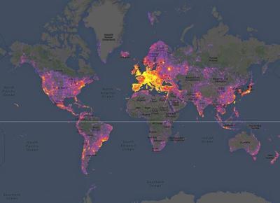 Sightmaps: El mapa de los lugares mas o menos fotografiados del mundo