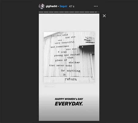 Gigi Hadid Instagram Dia De La Mujer