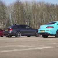 El arrancón que ya querías ver, BMW M3 vs Mercedes-AMG C63 S vs Alfa Romeo Giulia QV
