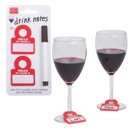 Drink Notes, etiquetas para las copas: cada uno la suya