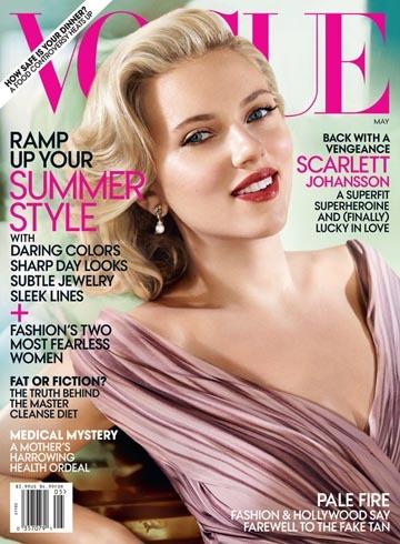 Scarlett Johansson es la portada de mayo de Vogue USA