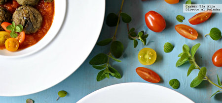 Albóndigas de berenjena al horno: receta sin grasas