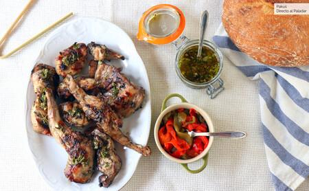 Receta de conejo asado en la barbacoa, disfrutando de las brasas con la carne más saludable