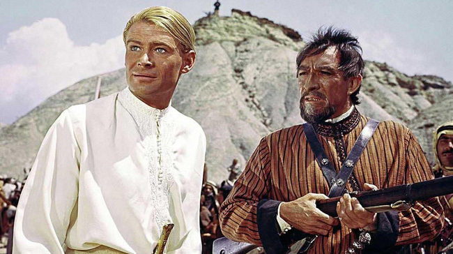 Peter O'Toole y Anthony Quinn en 'Lawrence de Arabia'