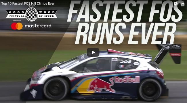 Los 10 coches más rápidos de la historia en la colina del Goodwood Festival of Speed, en vídeo