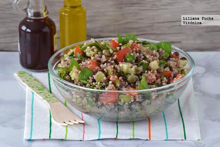 Ensalada De Quinoa Con Lentejas Beluga Y Hortalizas Crujientes