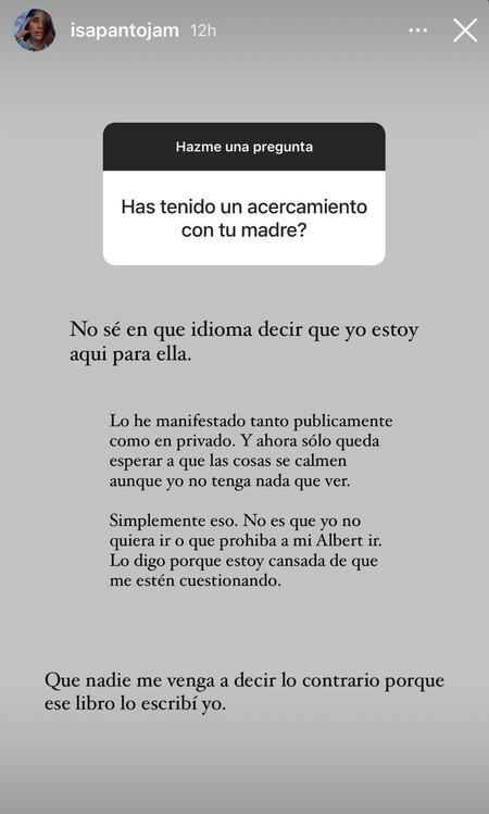 Isa Pantoja en Instagram