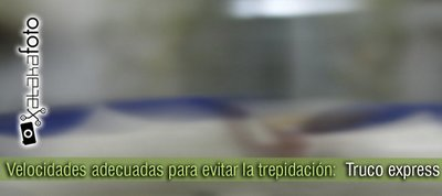 Velocidades adecuadas para evitar la trepidación: Truco express