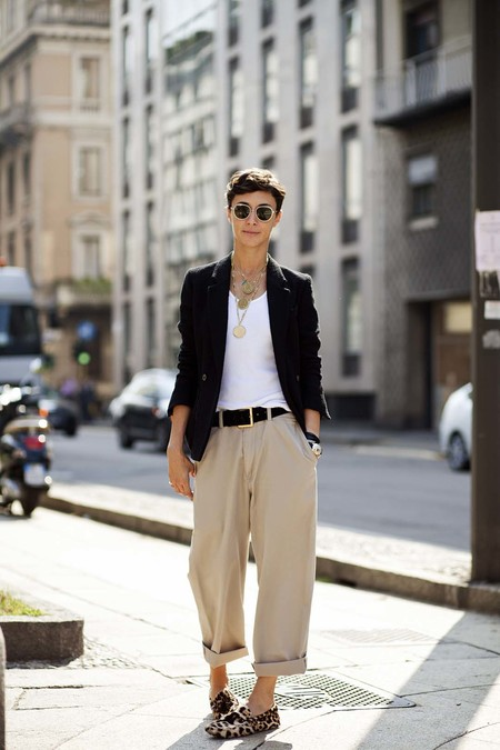 dad pants chinos street style