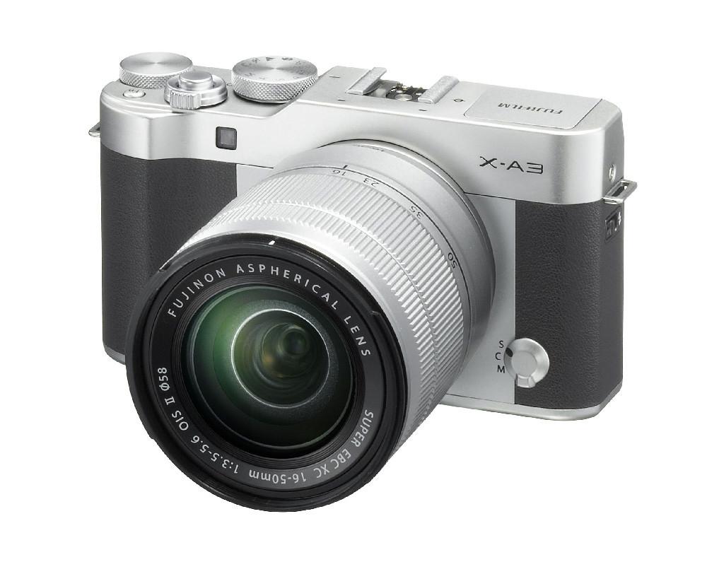 Fuji X A3 Silver 16 50mm Frontleft