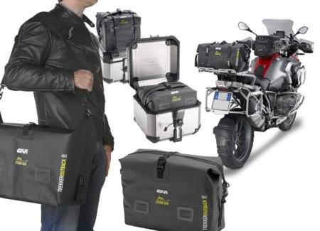 Equipaje 100% protegido y seco con las bolsas interiores Givi Storm. Por si quieres conducir bajo el agua