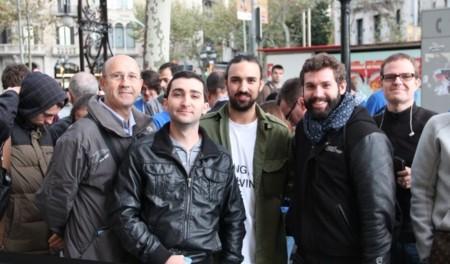 cola ipad air lanzamiento apple store passeig de gràcia barcelona
