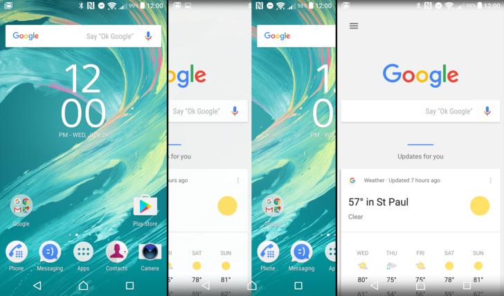 Sony Xperia Home beta se actualiza con integración completa a Google Now