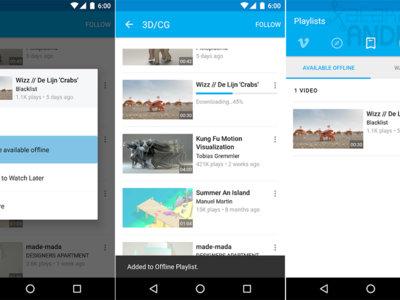 Vimeo para Android ya permite descargar sus vídeos para verlos sin conexión